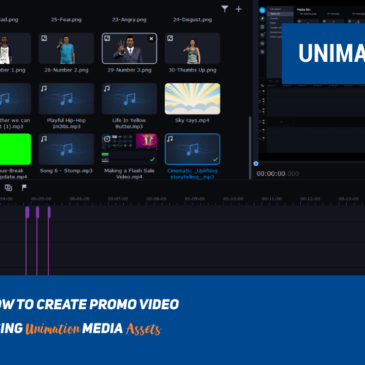 How to Create Promo Video Using Unimation Media Assets