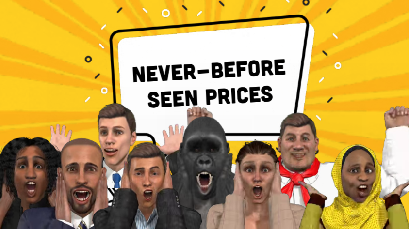 Never before seen prices