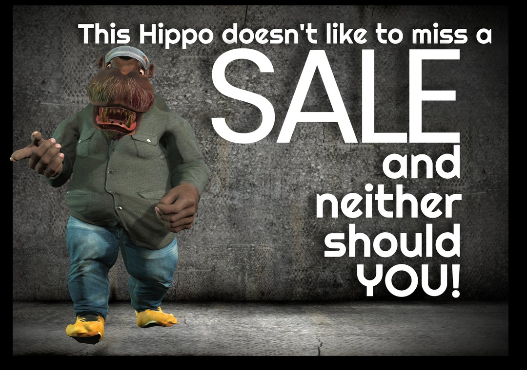 Unimation Media Dancing Hippo Sale